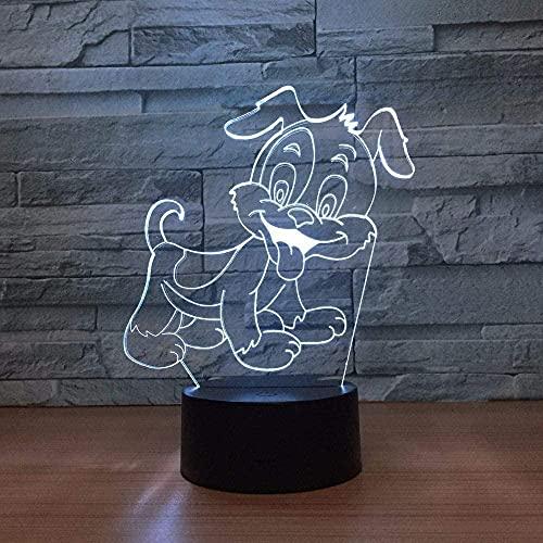 Lámpara 3D De La Ilusión Decoración Tabla Lámpara De Escritorio Perro 7 Colores Control Táctil Con Buena Imagen Panel Decoración Regalo Creativo Casa Oficina,Regalo De Valentín