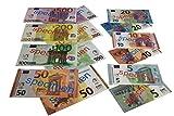 WISSNER® aktiv lernen - 40 Juego de Billetes mixtas de EURO - RE-Plastic®.