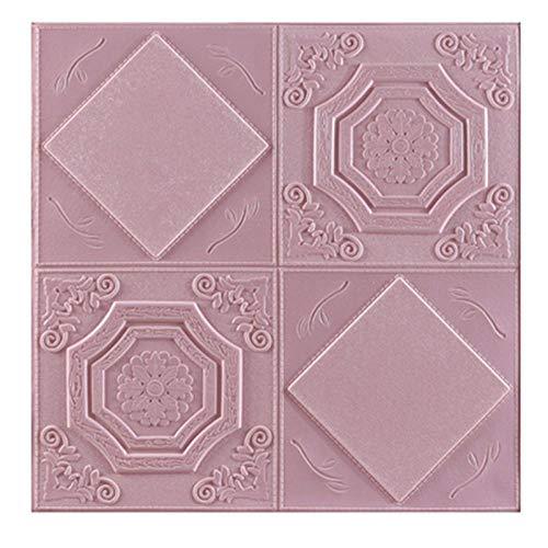 3D zelfklevende muurstickers waterdicht anti-botsing behang woonkamer slaapkamer muur decoratie stickers slaapzaal oude muur renovatie roze