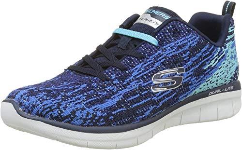Skechers Synergy 2.0-High Spirits, Zapatillas para Mujer, Azul (Navy/Blue), 36 EU