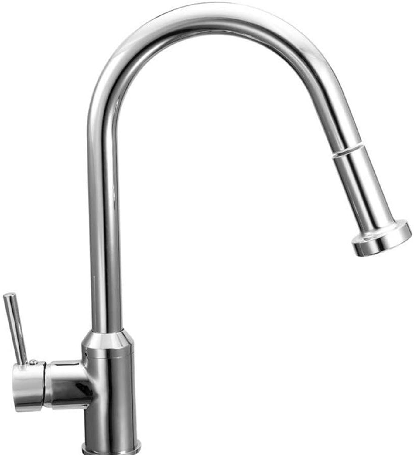 Wasserhahn Waschbecken Single Linked Swivel Design Pull Out Kitchen Sink Faucet Extension-Type Rotatable Stainless Steel Water Taps
