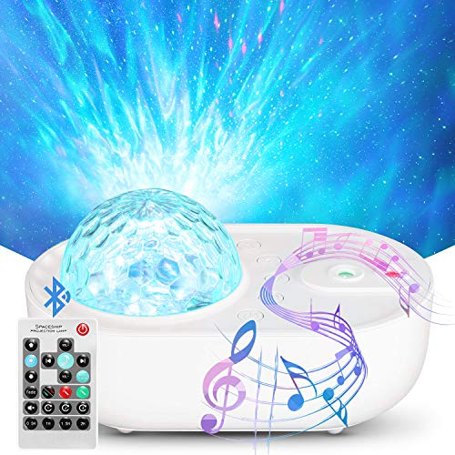 ACCEDE Night Light Projector for Kids, LED Ocean Wave Star Projector With Remote Control for Baby Bedroom Game Rooms Home Theatre Night Light Ambiance With Bluetooth Music Speaker