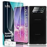 LϟK 5 Pack Protector de Pantalla para Samsung Galaxy S10 (No S10+) con 2 Pack HD Película de TPU y 3 Pack Protector de Lente de Cámara - Sin Burbujas Huella Digital Ultrasónica Instalación Fácil