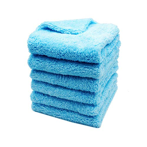 Kingsheep 6Pack Car Microfiber Towel for Auto Thick Buffing Microfiber Cleaning Cloth 16