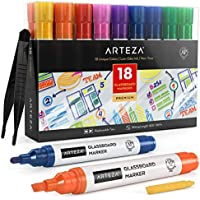 Set of 18 Arteza Dry Erase Glassboard Markers (Assorted Classic & Neon Colors)
