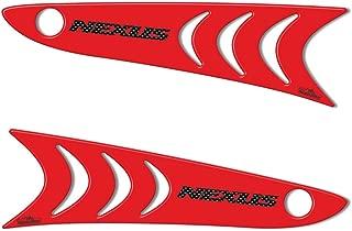 Adhesivos 3D Protección Pies Estribo para Gilera Nexus 300-500 - Rojo