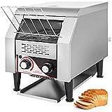 VEVOR 1340W Commercial Conveyor Toaster 150PCS/Hour Electric Heavy Duty Stainless Steel for Restaurant Breakfast, Sliver,110V