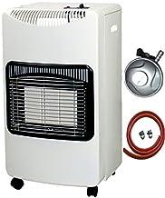 PROGEN - Calentador portátil (4,2 kW, Incluye Manguera y regulador de 1 m), Color Blanco
