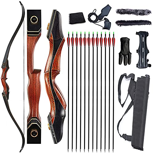 Monleap 60' Archery Takedown Recurve Bow and Arrows Set for Adults Survival Longbow Kit Hunting Bow...