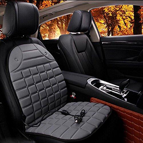 YBINGA Car Seat Cover Car Heated Seat Cushion Cover Auto 12V Heating Heater Warmer Pad auto Seat Cover (Color : Gray)