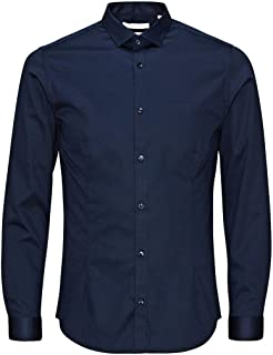 Jack and Jones Men's Parma Long Sleeve Super Slim Fit Casual Shirt