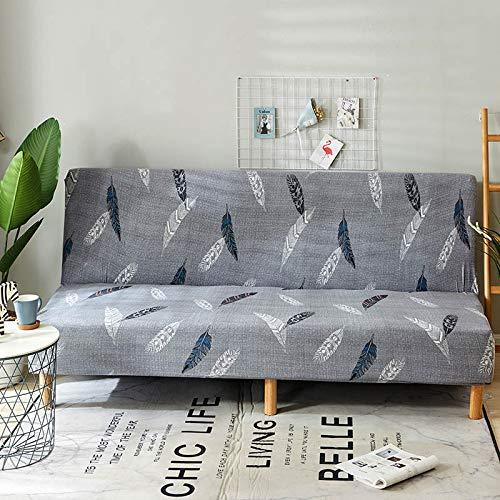 Armlose Sofabezug,All-Inclusive Blumen Ohne Armlehne Schlafsofa Bettdecke, Elastischer Sofa Cover Ohne Armlehnen Sofa überwurf (K178,150-185cm)