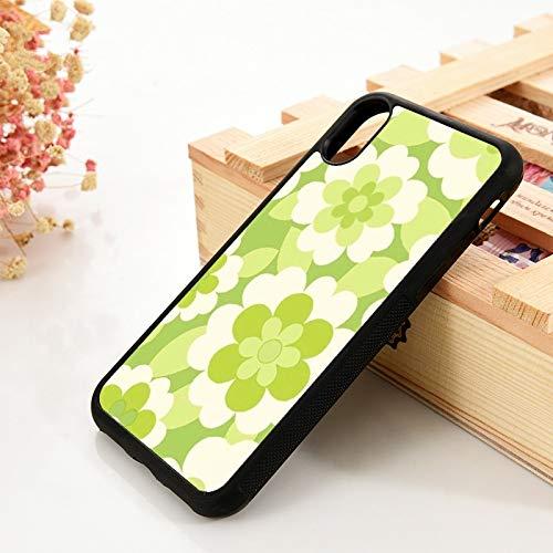 WGOUT para iPhone 5 5S 6 6S TPU Funda de Gel de sílicepara iPhone 7 Plus XX 11 12 Mini Pro MAX XR Kapur Flores Verdes, para iPhone 8
