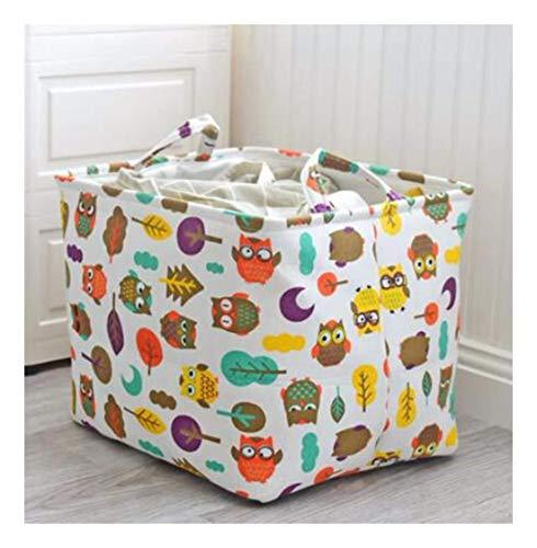 BASKET Dirty Hamper Cartoon Owl Storage Box Foldable Washing Clothes Laundry Basket Home Decoration Cosmetic Case Kids Toys Thick Organiser Bucket,C,C