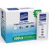 Nice 'n Clean Lens Cleaning Wipes (100 Total Wipes) | Pre-Moistened Individually Wrapped Wipes | Non-Scratching & Non-Streaking | Safe for Eyeglasses, Goggles, & Camera Lens