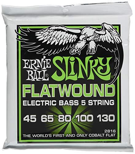 Ernie Ball Regular Slinky 5-Saiter Flatwound E-Bass Saiten - 45-130 Gauge