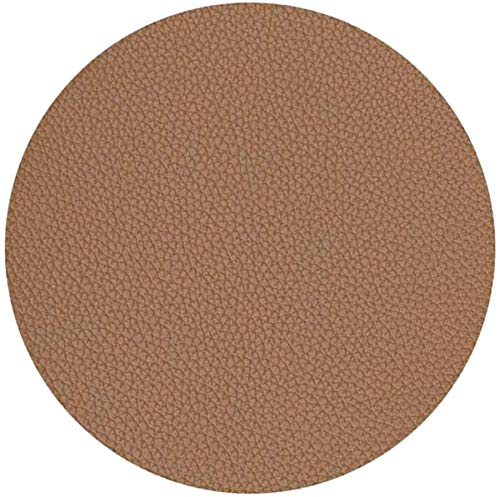 Jsmhh MagiDeal 4Colors PU Coaster Pelle Mug Cup Mat Contiene Fredda Hot Drinks Table Protector - Brown, 10 Centimetri (Color : Brown, Size : -)