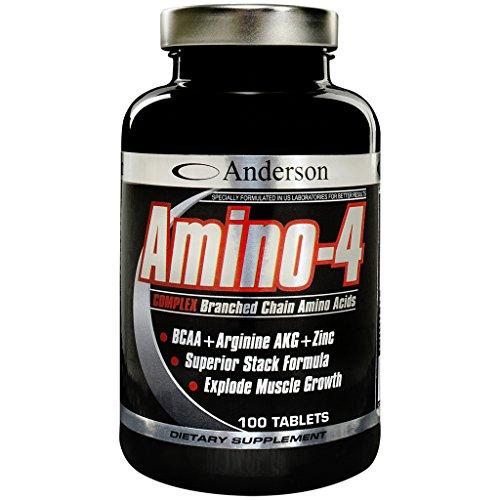 Integratore Anderson Amino-4 Complex 350 cpr Aminoacidi Ramificati 2:1:1 Formula anabolica Leucina - Isoleucina - Valina - Arginina AKG - Vitamina b6