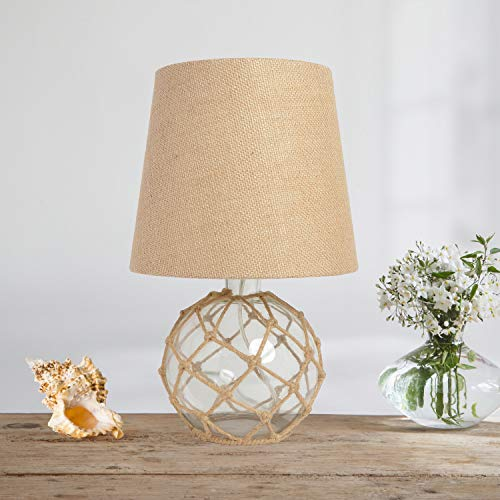 Elegant Designs LT1050-CLR Nautical Table Lamp, Clear