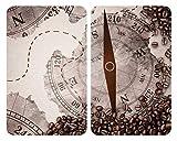 Wenko Coprifornelli in Vetro Universal Bussola - Set di 2 Coprifornelli per Tutti i Tipi di...