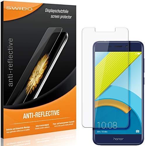 SWIDO Schutzfolie für Huawei Honor 6C Pro [2 Stück] Anti-Reflex MATT Entspiegelnd, Hoher Festigkeitgrad, Schutz vor Kratzer/Folie, Bildschirmschutz, Bildschirmschutzfolie, Panzerglas-Folie