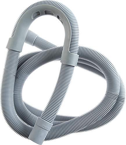 Cornat Maschinen-Ablaufschlauch - 200 cm Länge - Mit Aufhängebügel - Temperaturbeständig bis +90°C  - Aus robustem Kunststoff / Abwasserschlauch für Spül - & Waschmaschine / Spiralschlauch / T357402