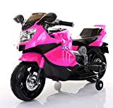 TAMCO Kids Motorcycle, Ride on Toys, Electric Kids Motorcycle with Foot Pedal Starter, Music & Lights ,Super Easy Driving for Kids 2-4 Years Old (Pink)