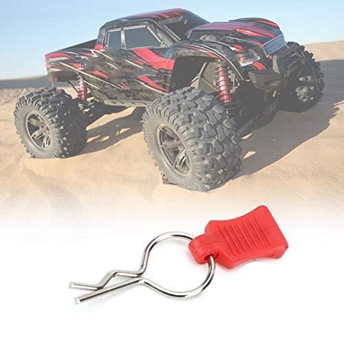 Dilwe RC Karosserie Shell Clip + Befestigungswinkel Set, Secure Shell Pin, Aluminiumlegierung Zubehör Autoteile Passend für Traxxas 1/5 1/8 (Rot)