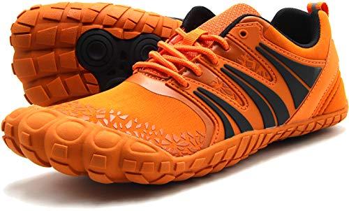 Oranginer Men#039s Zero Drop Shoes Barefoot Comfortable Five Toe Shoes for Men Orange Size 125