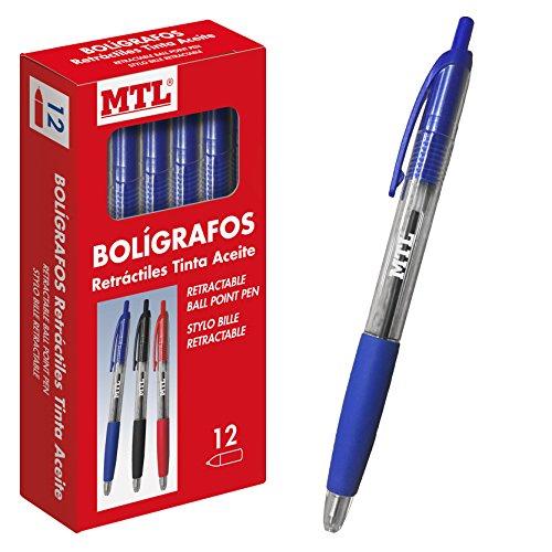 DOHE 79590 - Caja de bolígrafos retractiles, 1 mm, 12 unidades