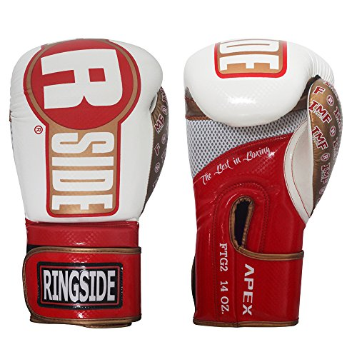 Ringside Apex Flash Boxing Training Sparring Gloves, RD/WH, 16 oz