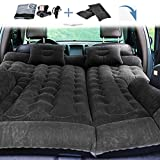 MotorFansClub 64.5 x 52 Inches Thickened Inflatable Mattress Car Travel Bed Fit for Compatible with SUV Camping Adjustable Air Mattress Seat Cover Pillow Flocking Cloth Ventilate Outdoor Kids