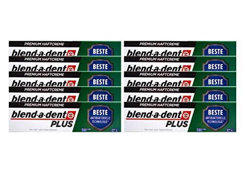 10x Blend a dent Plus Premium Haftcreme DUO SCHUTZ Minze 40g