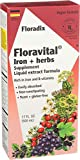 Product Image of the FLORA - Floravital Iron & Herbs, Gluten Free, Vegan, Liquid, by Salus, 17 Fl Oz