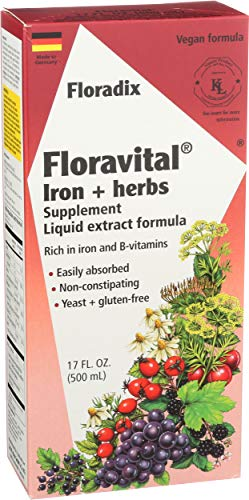 Floradix Floravital Liquid Iron and Vitamin Formula (500 ml)