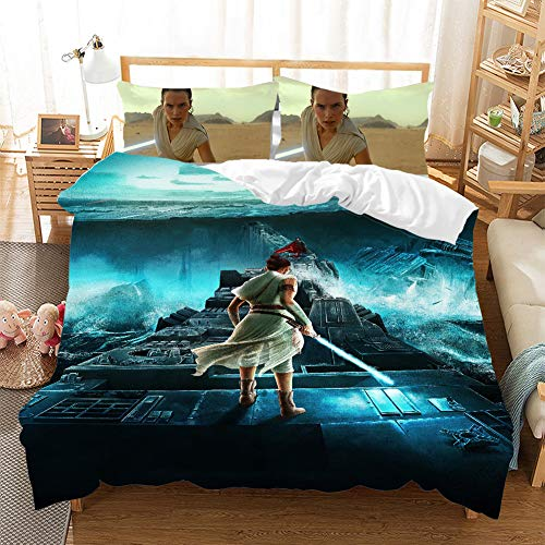 CQLXZ Guerres de las Estrellas - Juego de cama infantil con impresión en 3D, tamaño múltiple, funda nórdica de diseño de anime, para niños y niñas (I,135 x 200 cm)