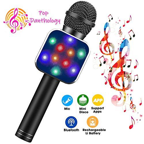 ShinePick Kids Microphone, Handheld Wireless Bluetooth Karaoke...