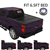 CARMOCAR Pickup Truck Bed Covers for Dodge Ram 1500/2500/3500 2002-2008 | 6.5FT Bed | Hard Tri-Fold Tonneau Cover | Truck Bed Cover Accessories with Led Light Replacement