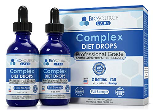 BioSource Labs Complex Diet Drops – Best Natural Weight Management Drops for Men and Women (2 x 2-Ounce Bottle)