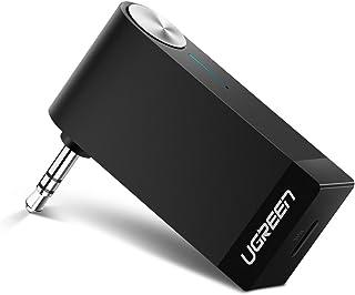 UGREEN Bluetooth レシーバー 3.5mm オーディオ ブルートゥース 受信機 ワイヤレス 車載 AUX カーオーディオ コンポ iPhone Android スマートフォン タブレット対応 Mirco USB充電ケーブル付属 【TELEC認証済み】