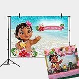Daniu Bebé Moana Telón de Fondo Decoración de la Fiesta de cumpleaños Mar Azul Agua Verano Fotografía Telón de Fondo Ducha de bebé Fondo de Vinilo Decoración de la Mesa