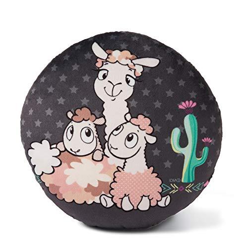 NICI- Cojín Redondo Llamas bebé (45411)