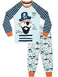 Harry Bear Pijamas de Manga Larga para niños Piratas Ajuste Ceñido Azul 5-6 Años