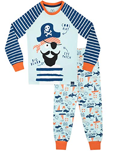 Harry Bear Jungen Piraten Schlafanzug Slim Fit Blau 110