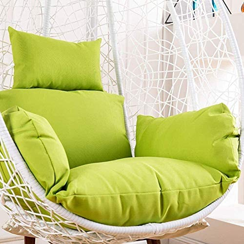 HELEN CURTAIN Hanging Chair Cushion, Chair From Egg Shape Skates on for Wicker Chairs Hanging with Detachable Pillow Thick Nest, Beige,G