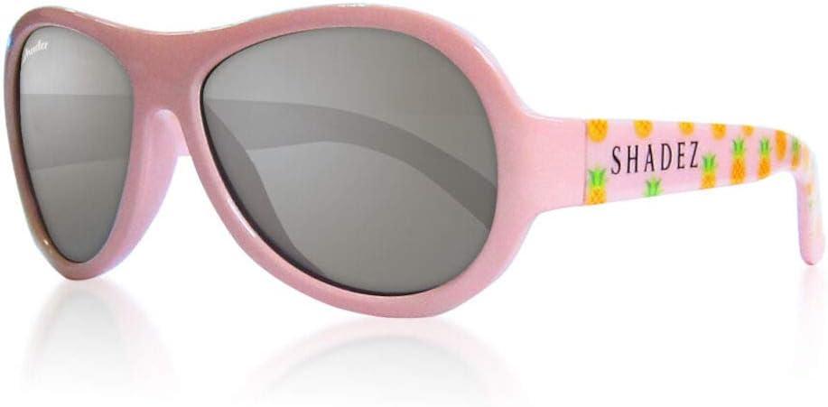 Shadez - Gafas de sol para niños, protección contra los rayos UVA y UVB, talla Baby – Rosa con piña – 30 g