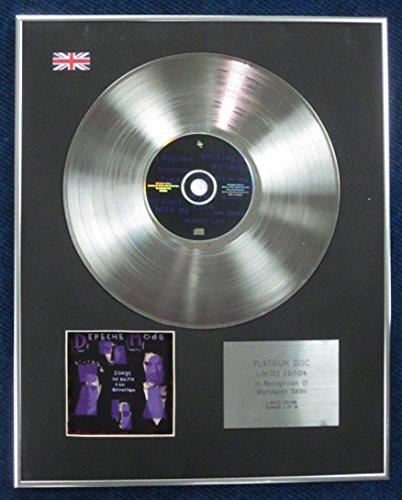 Century Music Awards DEPECHE MODE – Limitierte Auflage Platin-CD – Songs of Faith and Devotion