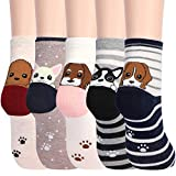 Women's Funny Dog Socks Cotton Fun Novelty Cute Pack of 5