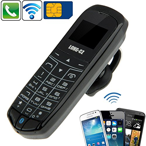 LONG-CZ J8 Hands Free Bluetooth Dialer + Bluetooth Headphone Function, Micro SIM Card, GSM Network(Black)
