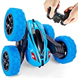 DURABLE RC STUNT CAR - The body is made of high-quality and advanced materials, making it sturdy and resistance to crashing. Premium eco-friendly quality makes it safe for kids. Anti-slip hollow tire, super elastic, good shockproof effect, easy to ov...